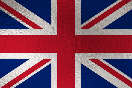 Flag of United Kingdom with glass effect. Vector illustration