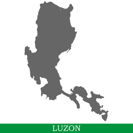 High quality map of Luzon is the island of Philippines Illustration