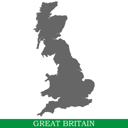 High quality map of Great Britain is a island in United Kingdom