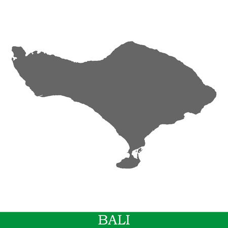High quality map of Bali is the island of Indonesia Ilustração