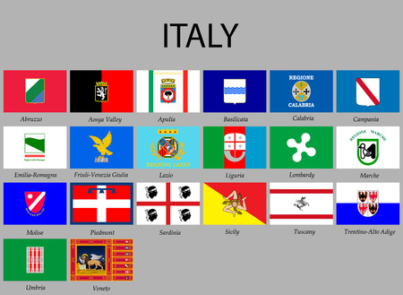 all Flags provinces of Italy. Vector illustraion Illustration