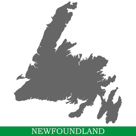 Carte de haute qualité de Terre-Neuve est l'île du Canada