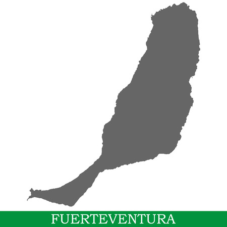 High quality map of Fuerteventura is the island of Spain. Canary Islands