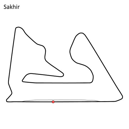 Sakhir grand prix race track. circuit for motorsport and autosport. Vector illustration.