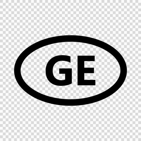 Georgia code symbol. short country name. Domain name Иллюстрация