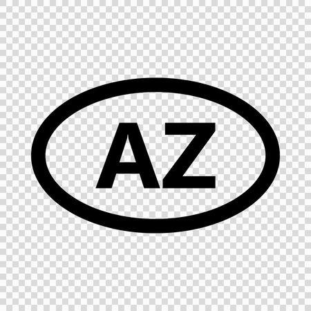 Azerbaijan code symbol. short country name. Domain name