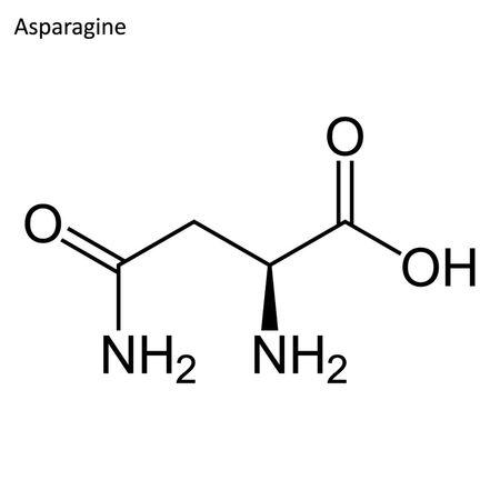 Skeletal formula. Amino acid molecule Standard-Bild - 110855943