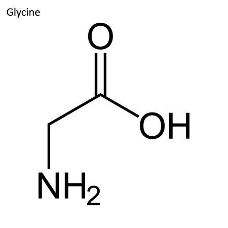 Skeletal formula. Amino acid molecule Ilustracja