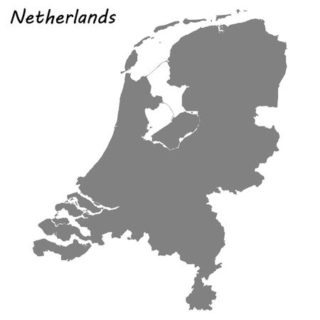 High quality map of Netherlands . Vector illustration