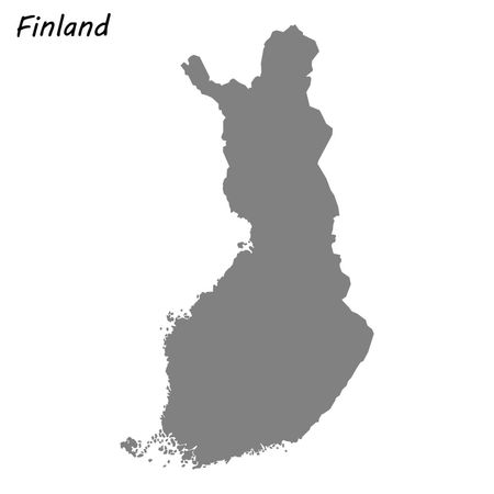 High quality map of Finland . Vector illustration