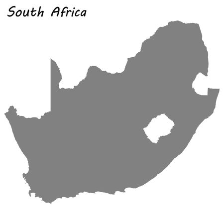 High quality map of South Africa . Vector illustration Ilustração