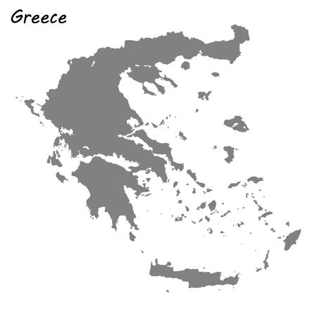 High quality map of Greece . Vector illustration Illustration