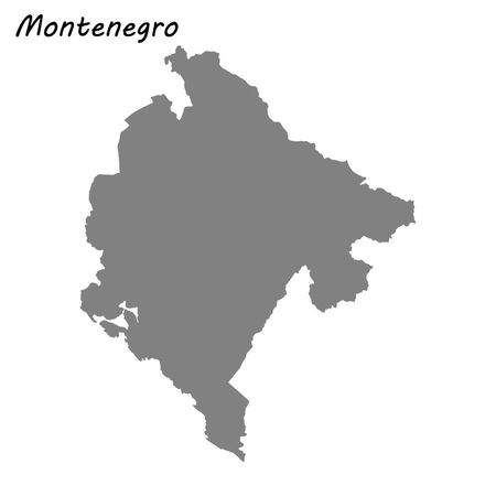 High quality map of Montenegro . Vector illustration