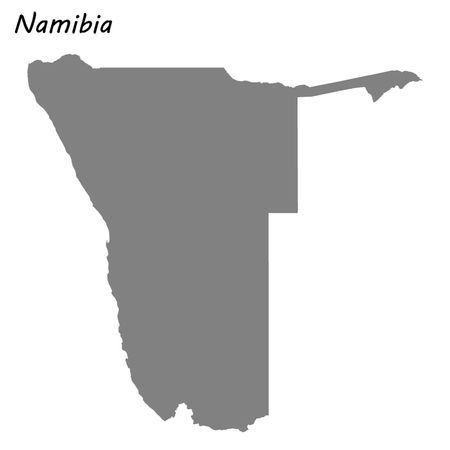 High quality map of Namibia . Vector illustration