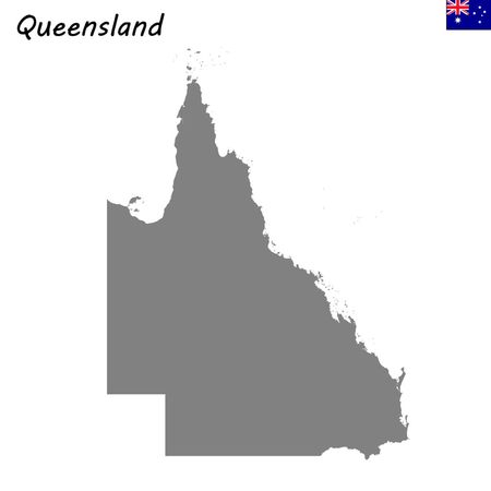 High Quality map is a state of Australia