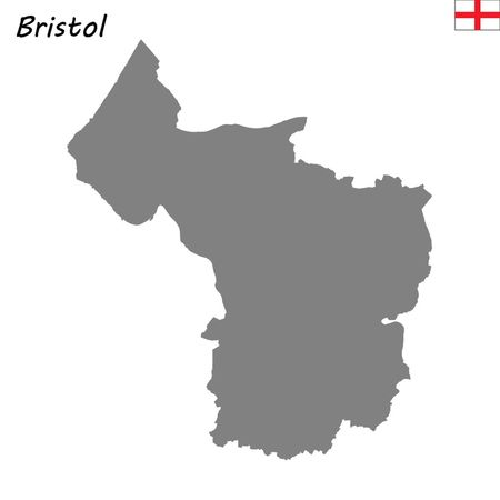 High Quality map is a ceremonial county of England. Bristol