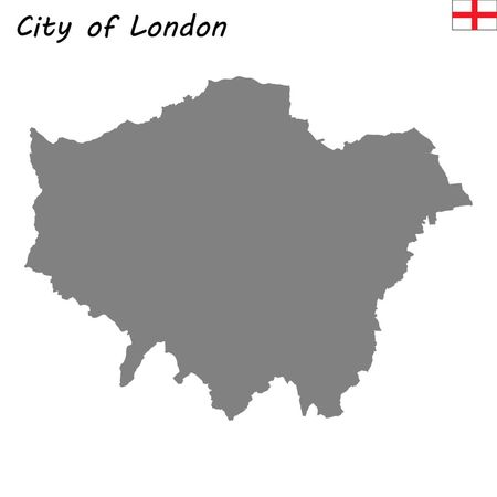 High Quality map is a ceremonial county of England. City of London  イラスト・ベクター素材