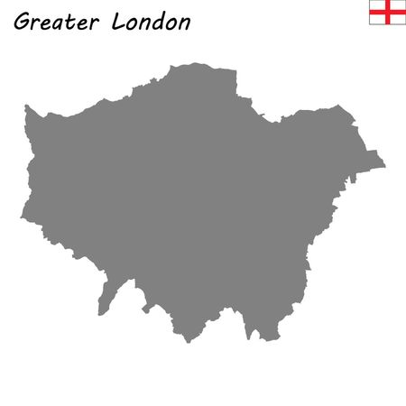 High Quality map is a ceremonial county of England. Greater London