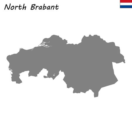 High Quality map province of Netherlands. North Brabant
