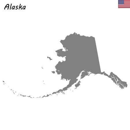 High Quality map state of United States. Alaska Ilustrace