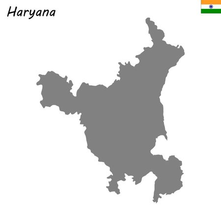 High Quality map of Haryana is a state of India