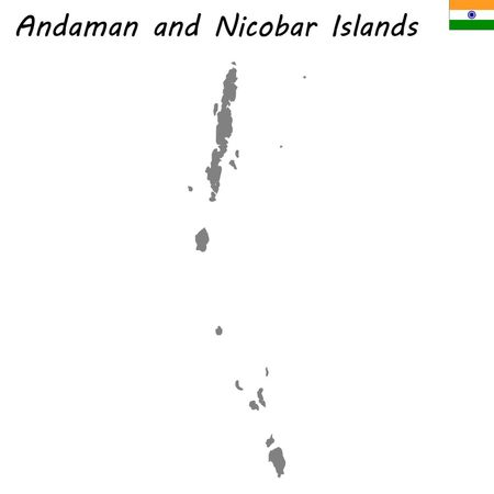 High Quality map of Andaman and Nicobar Islands is a state of India