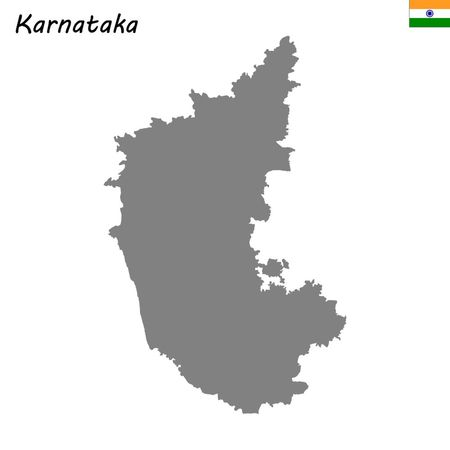 High Quality map of Karnataka is a state of India