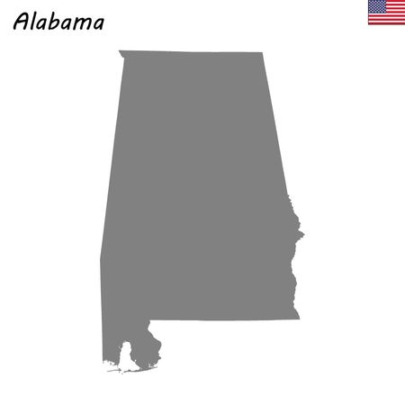 High Quality map state of United States. Alabama  イラスト・ベクター素材