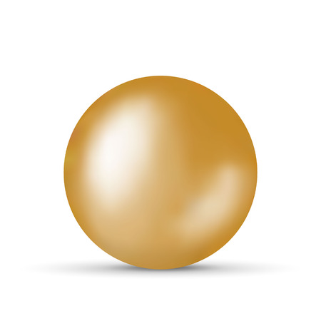 Vector illustration with golden ball over white background