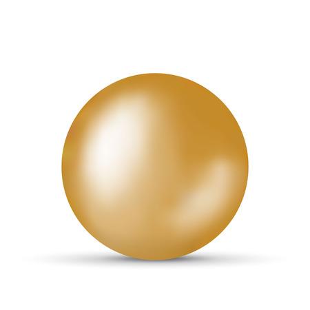 Vectorillustratie met gouden bal op witte achtergrond Vector Illustratie