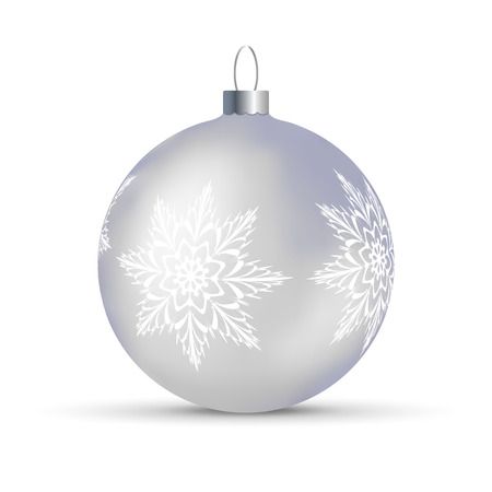 Vector illustration with decorated Christmas trees ball over transparent background