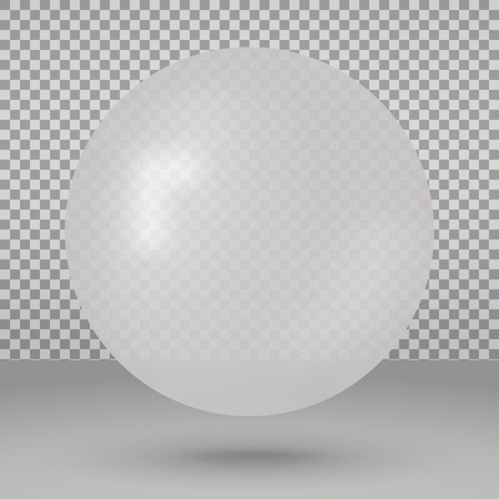 Vector illustration with white ball over transparent background
