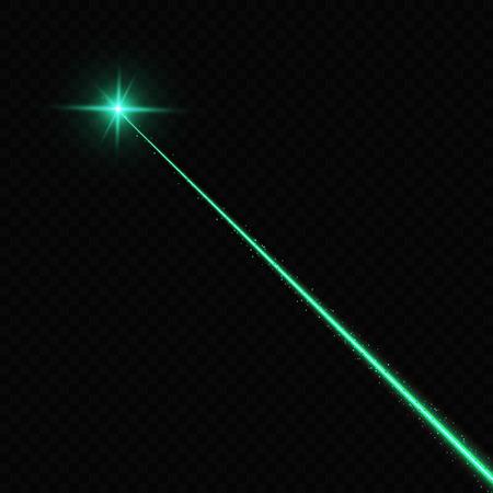 Vector illustration of lasert over black background