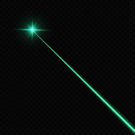 Vector illustration of lasert over black background