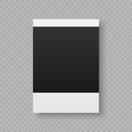 Black and white vector illustration of photo frame