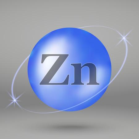 Zinc icon. mineral drop pill capsule. Mineral complex design