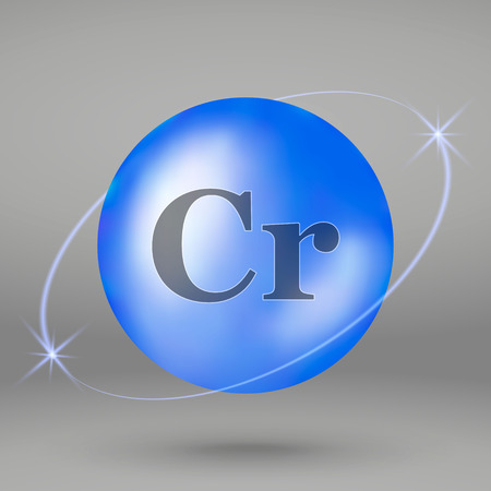 Chromium icon. mineral drop pill capsule. Mineral complex design