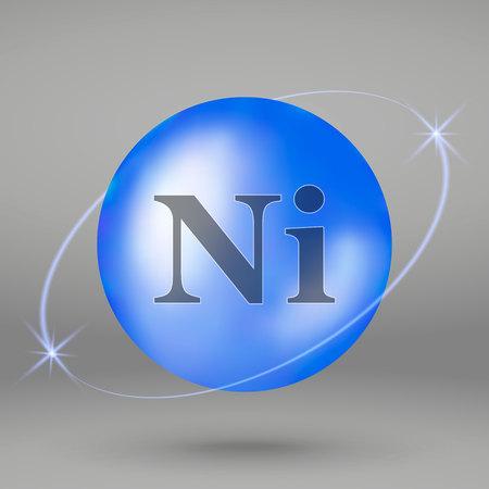 Nickel icon. mineral drop pill capsule. Mineral complex design