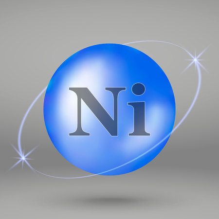 Nickel icon. mineral drop pill capsule. Mineral complex design 일러스트