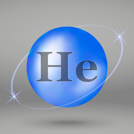 Icono de helio. cápsula de píldora de gotas minerales. Diseño de complejo mineral