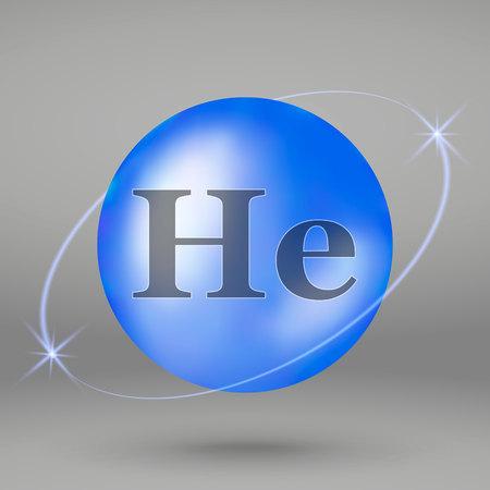 Helium icon. mineral drop pill capsule. Mineral complex design Illustration