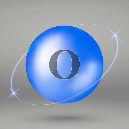Oxygen icon. mineral drop pill capsule. Mineral complex design