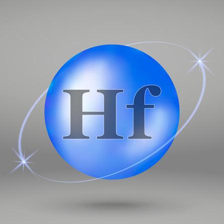 Hafnium icon. mineral drop pill capsule. Mineral complex design Illustration