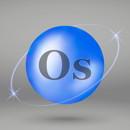 Osmium icon. mineral drop pill capsule. Mineral complex design Illustration