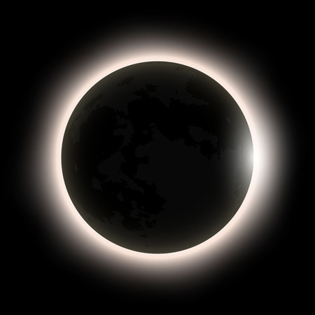 total solar eclipse, eclipse of the sun . Vector illustration