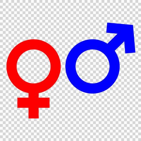 Gender symbol, vector illustration for design Иллюстрация