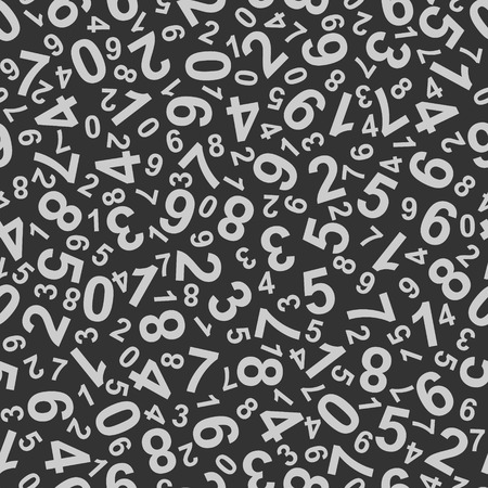 Abstract Background with Numbers. vector Illustration