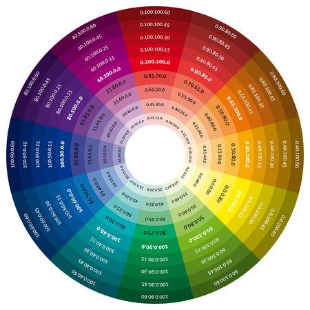 Ruota dei colori, modello vettoriale per il design