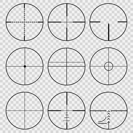 Set of telescopic sights Vector illustration