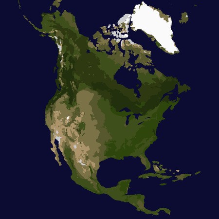 North America map, Vector illustraton 向量圖像